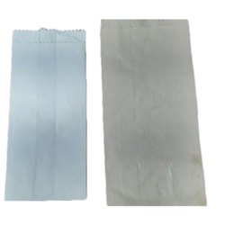 Plain White 4X10 Inch Paper Shopping Bag, Capacity: 2-5 Kg