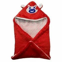Fur/Fleece Little Cubs Red Baby Blanket Cum Sleeping Bag, 0-6 Months, Size: 26 X 26 Inches