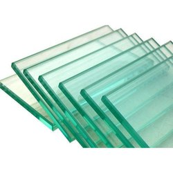 Transparent Glass Sheet, Shape: Flat, Size: 8 x 4 Feet