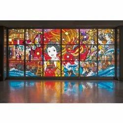 Interior Wall glass painting