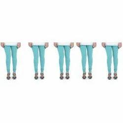Cotton Lycra Casual Wear Light Blue Ocean Women Churidar Legging, Size: XL & XXL