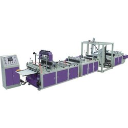 Automatic 3 Non Woven D Cut Carry Bag Making Machine, Capacity: 80-120 pcs/min