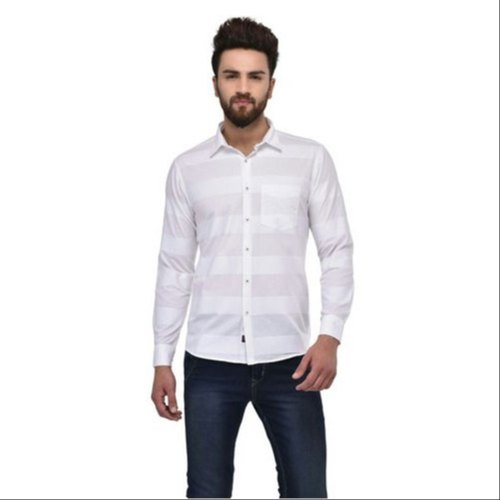 825c61c4e962 White Cotton Mens Designer Shirt, Rs 699 /piece, Creative Venture ...