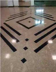 Italian Fancy Marble Flooring Work