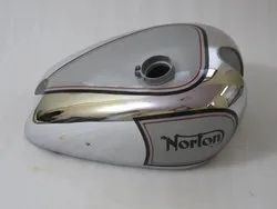 New Norton Es2 Silver Painted Chrome Petrol Tank
