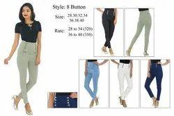 8-Button Ladies Jeans
