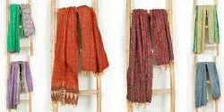 Hand Quilted Silk Kantha Stole