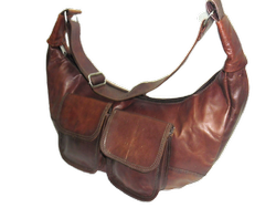 Vintage Leather Hobo Bag