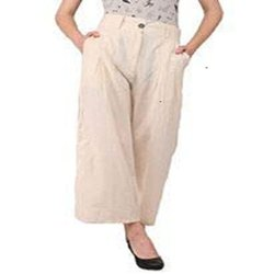 Summer Wear Skin Fit Cotton Palazzo Pants For Woman