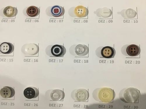 Plastic Round Garment Button, For Garments, Packaging Type: Packet