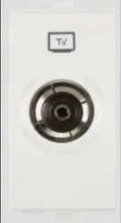 White Anchor TV Socket Outlet Single1M Premium Modular Switches