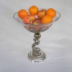 99201 Table Top Brass Fruits Bowl Stand for Restaurant