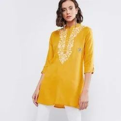 Ladies Cotton Embroidered Top