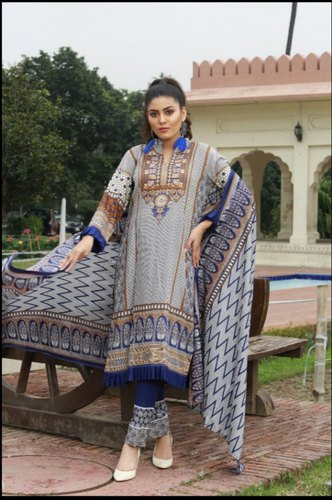 93cae94282 Blue 3 Star Original Pakistani Suit Pakistani Lawn Suit, Rs 900 ...