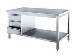 Stainless Steel Work Table With Drawers