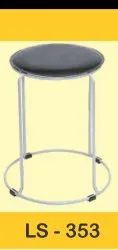 Leather Metal Stool 353, Size: 14inch Top Round Hight 19 Inch