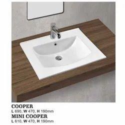 Copper Top Counter Wash Basin