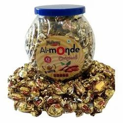 Round Soft & Smooth Almond Toffee, Packaging Type: Plastic Jar