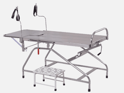 Dolphin Stainless Steel Labour Table ( Foot and Folding) for Hospital