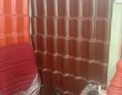 UPVC Spanish Coffee Brown Roofing Tile Sheet