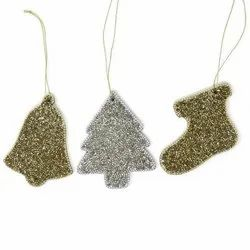 Colorful Christmas Ornaments with Glitter Christmas Decoration from India
