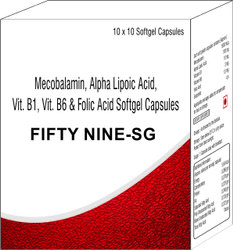 Mecobalamin Alpha Lipoic Acid Vitamin B1 Vitamin B6 and Folic Acid Softgel Capsules