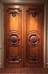Exterior Finished Teak Wood Main Door
