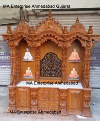 Big Pooja Temple With Base Drawers And Cabinets