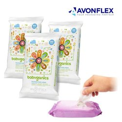 Plastic Laminated Wet Wipes Packaging Pouch