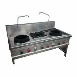 Stainless Steel SS Commercial 3 Burner Gas Stove