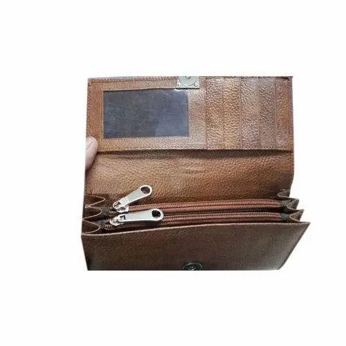 3655c8b7fdc Brown Plain Ladies Designer Leather Clutch, Packaging Type: Packet ...