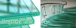 Transparent Printed Toughened Glass, Size: 101-500 Square Feet, Shape: Flat