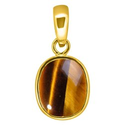 Tiger Eye Pendant Men and Women Panchdhatu Gemstone
