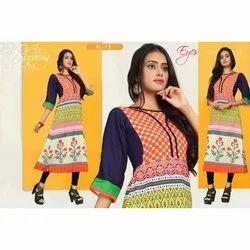 Designer Anarkali Round Neck Kurti