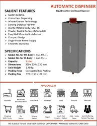 Automatic stainless steel and MS Sanitizer Dispenser