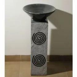 Capstona Pedestal Spiral Marble Wash Basin