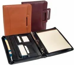Leather Business Organizer Ring Binder