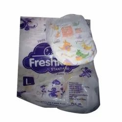 Cotton With Gel Freshkins Disposable Baby Diaper, Size: L Also Available In S, M