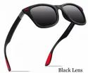 Black And Red Casual Wear Polarized Super Lightweight Sunglasses
