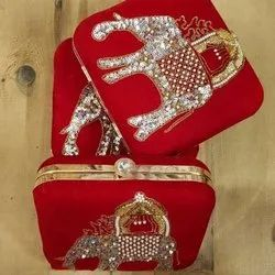 Red Designer Bridal Clutch