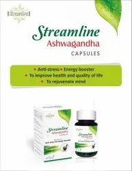 Streamline Ashwagandha Capsule, Packaging Size: 30 Capsule