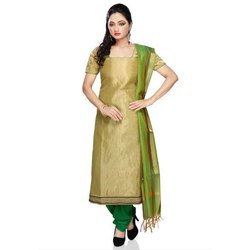 Stitched Churidar Cotton Ladies Salwar Suits, Machine wash