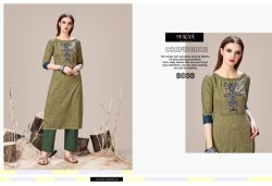 Olive Designer Kurti with Pants