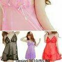 Short Length Net Ladies Night Dress