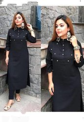 Black Ladies Kurti