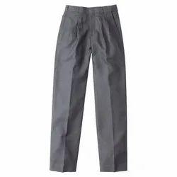 Regular Fit Formal Wear Men Gray Plain Pant, Hand Wash, Machine Wash