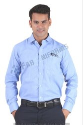 Fab Uniforms Cotton Light Blue Formal Shirt, Machine wash