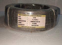 Fiberglass Insulated Over SS Braided Cable