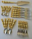 Golden Beaded Cutlery Set