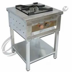 SS Single Burner Range for Commercial Kitchen, No. of Regulators: 1